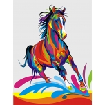 Värviline hobune