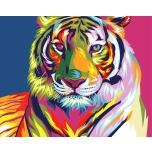 Spalvingas tigras