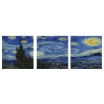 The starry sky, Vincent van Gogh Triptix